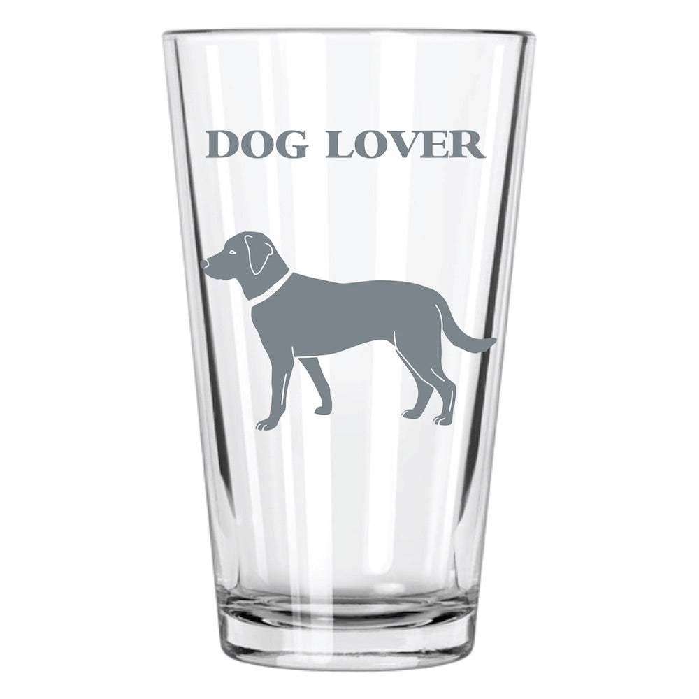 Dog Lover Pint Glass