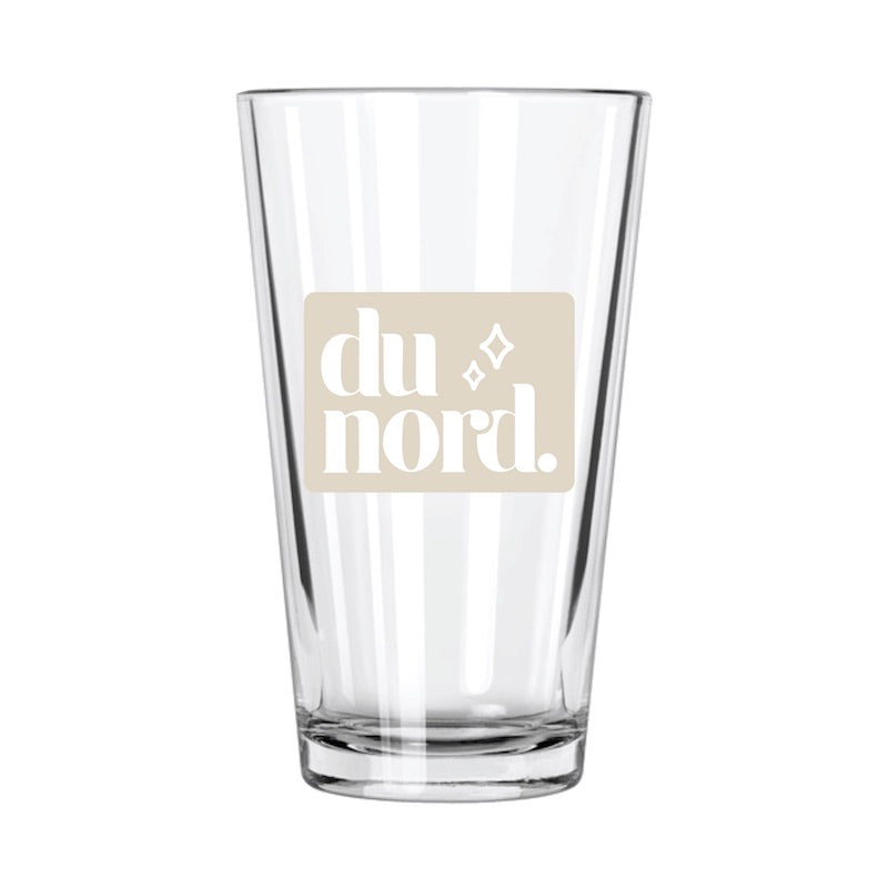 Du Nord Pint Glass - Northern Glasses Pint Glass