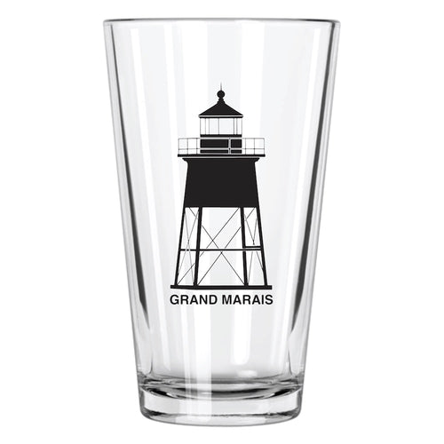 Grand Marais Pint Glass | Grand Marais Gifts | Northern Glasses