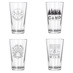 Explore More Pint Glasses Set (4)