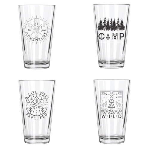 Explore More Pint Glass Set - Northern Glasses Pint Glass