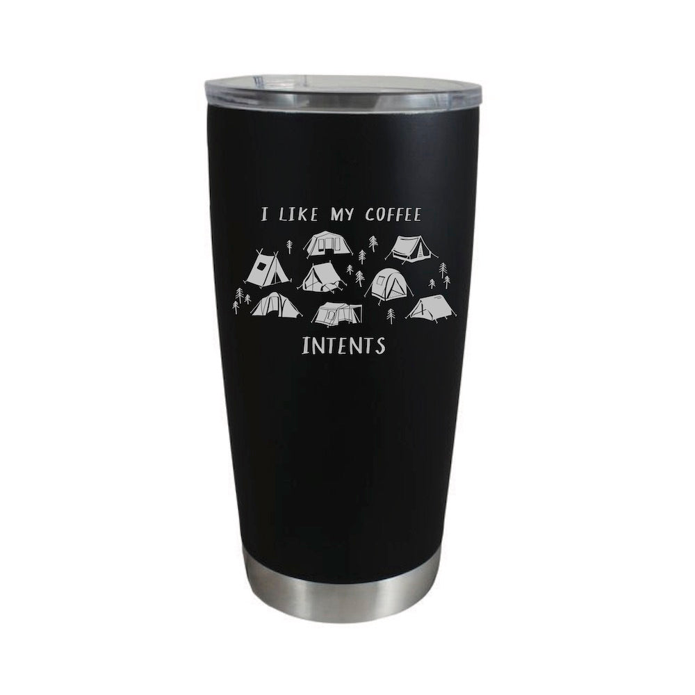 I Like My Coffee InTents Stainless Travel Mug (20 oz.) - Northern Glasses Pint Glass