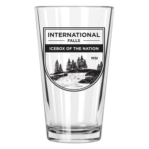 International Falls Pint Glass | North Shore Gifts | Northern Glasses