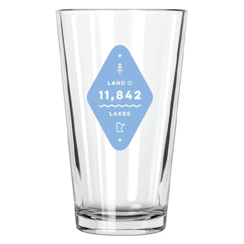Land of Lakes Pint Glass - Northern Glasses Pint Glass