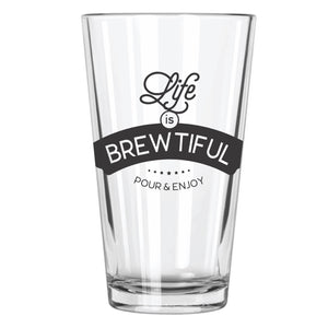 Life Is Brewtiful Pint Glass - Northern Glasses Pint Glass
