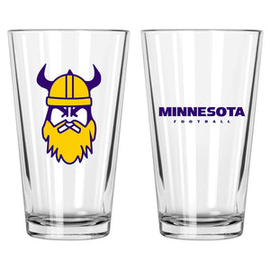 Minnesota Football Pint Glass - Northern Glasses Pint Glass