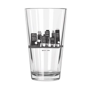 Minneapolis Skyline (Color) Sticker - Northern Glasses Pint Glass