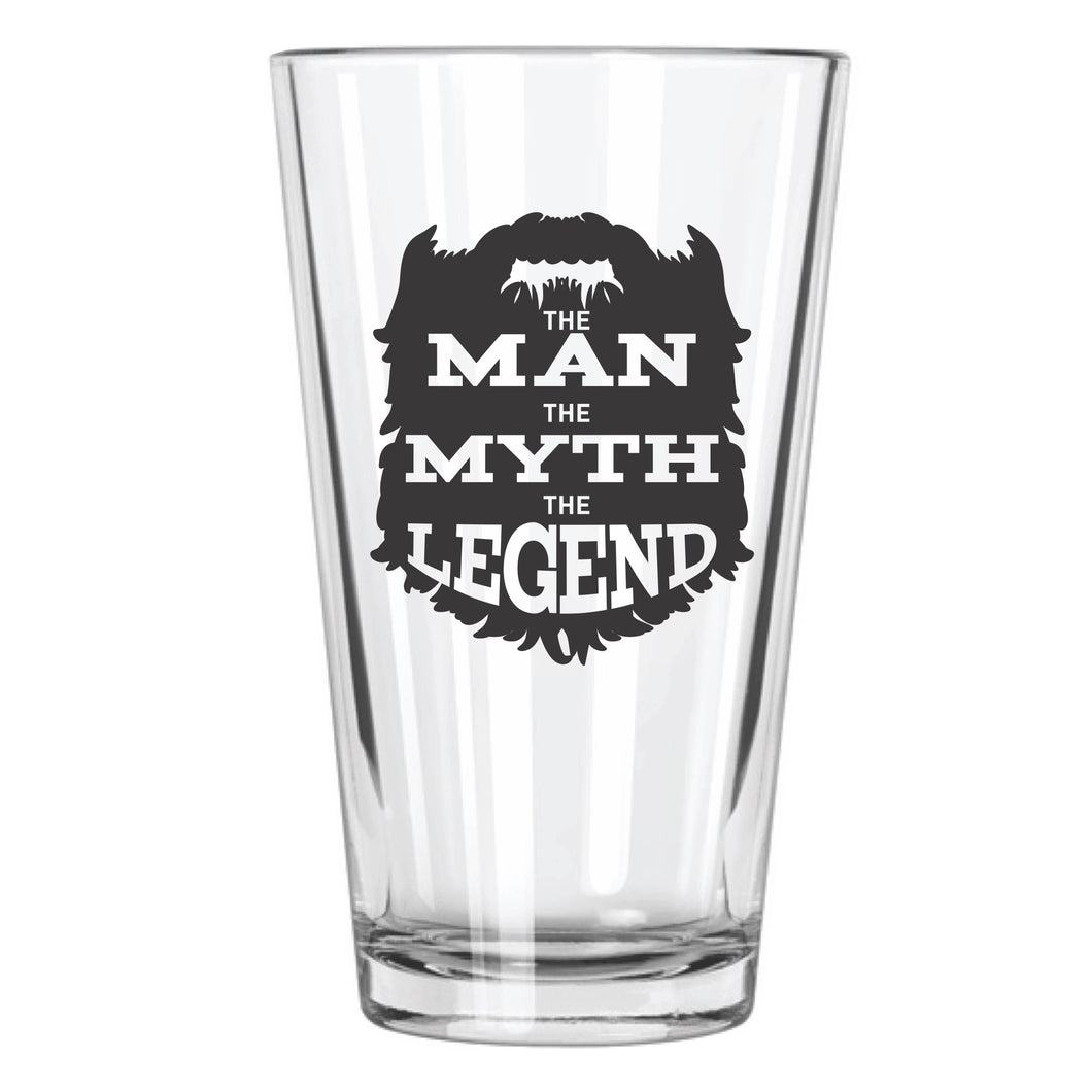 The Man, The Myth, The Legend Pint Glass - Northern Glasses Pint Glass