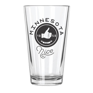 Minnesota Nice - Northern Glasses Pint Glass