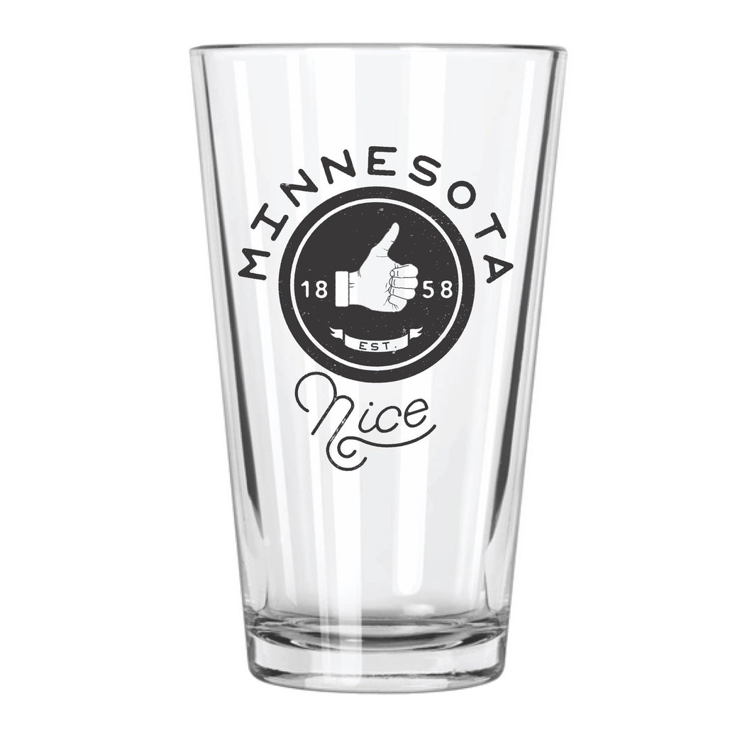 Minnesota Nice Pint Glass - Northern Glasses Pint Glass
