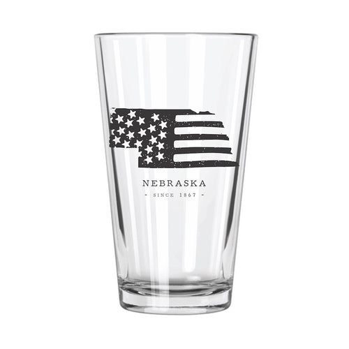 American Road Trip: Nebraska Pint Glass - Northern Glasses Pint Glass