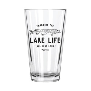Lake Life: Fishing Pint Glass - Northern Glasses Pint Glass
