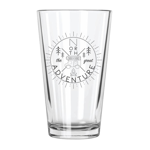 The Great North Adventure - Northern Glasses Pint Glass
