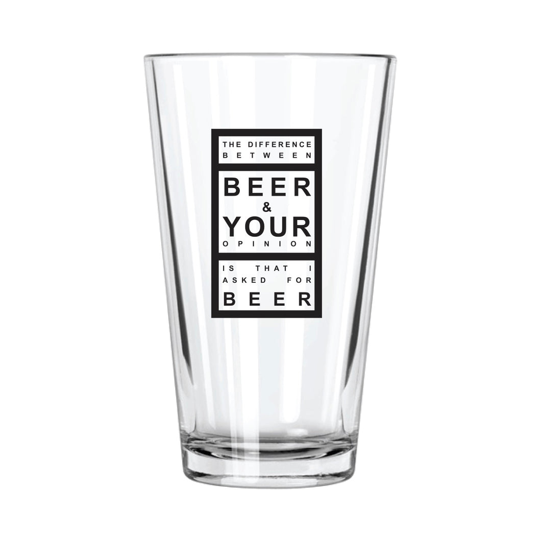 The Difference Between Beer & Your Opinion Pint Glass | Northern Glasses