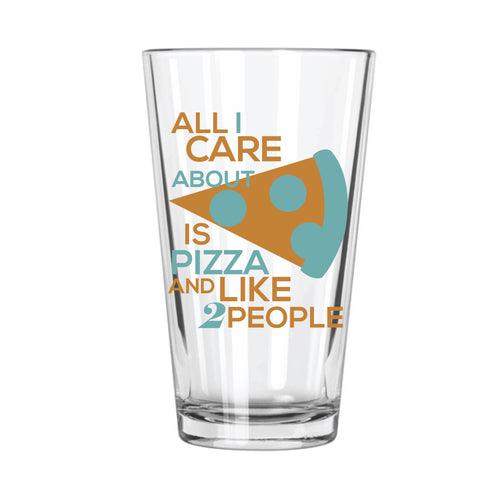 All I Care About (Pizza) Pint Glass - Northern Glasses Pint Glass