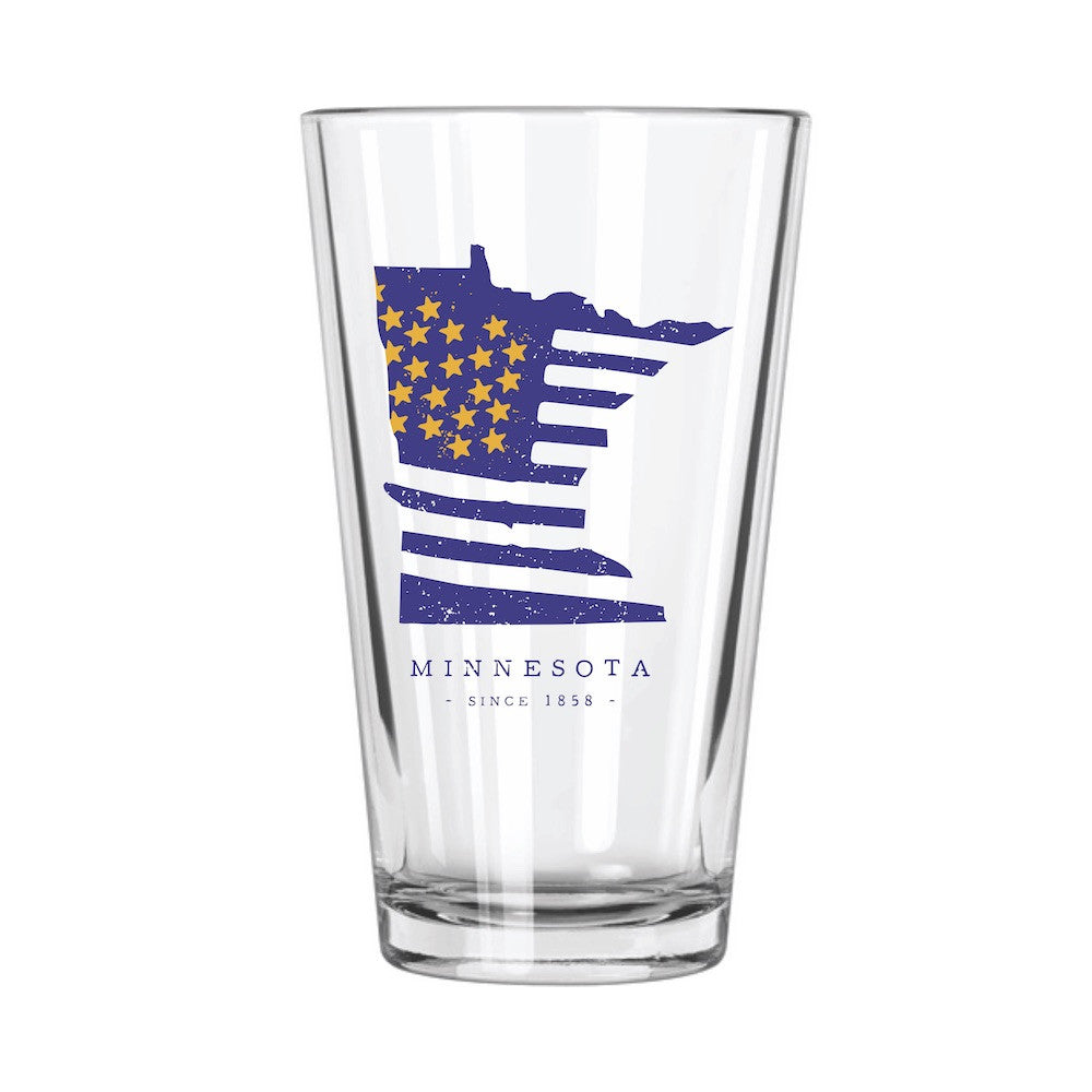 American Road Trip: Minnesota Pint Glass - Northern Glasses Pint Glass