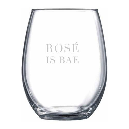 Rosé Is Bae Stemless Wine Glass - Northern Glasses Pint Glass