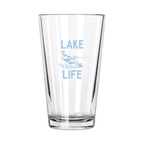 Lake Life: Water Skiing Pint Glass - Northern Glasses Pint Glass