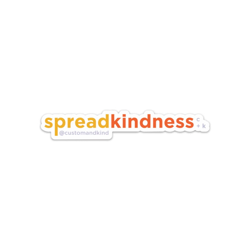 Spread Kindness Sticker - Northern Glasses Pint Glass