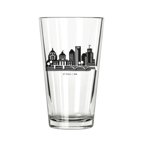 St. Paul Skyline Pint Glass