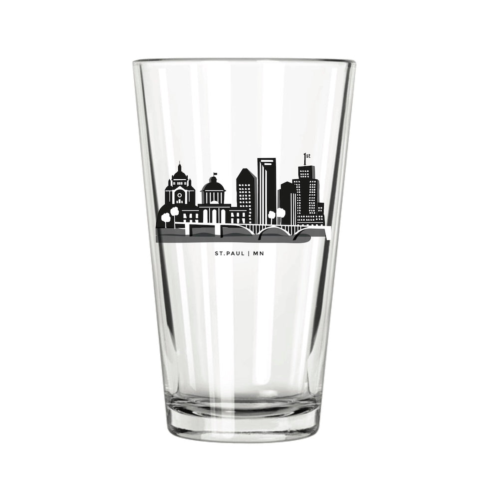 St. Paul Skyline Pint Glass - Northern Glasses Pint Glass