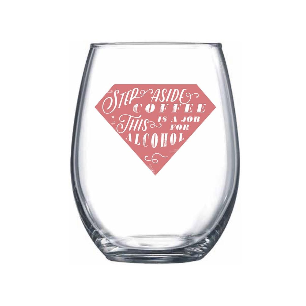 Step Aside Coffee Stemless Wine Glass - Northern Glasses Pint Glass