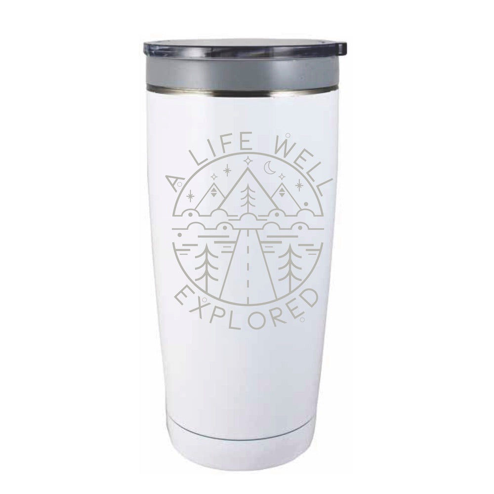 A Life Well Explored Travel Mug - Northern Glasses Pint Glass