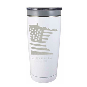 American Road Trip: Minnesota Travel Mug - Northern Glasses Pint Glass