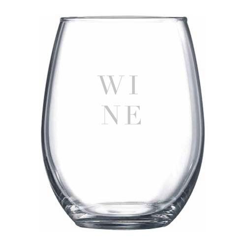WINE Stemless Wine Glass - Northern Glasses Pint Glass