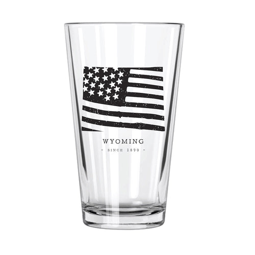 American Road Trip: Wyoming Pint Glass