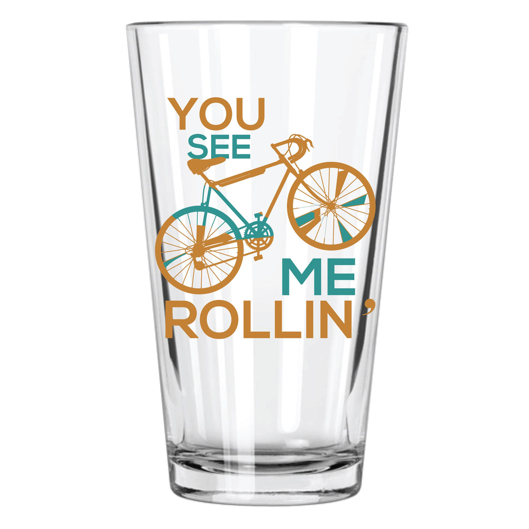 You See Me Rollin' Pint Glass - Northern Glasses Pint Glass