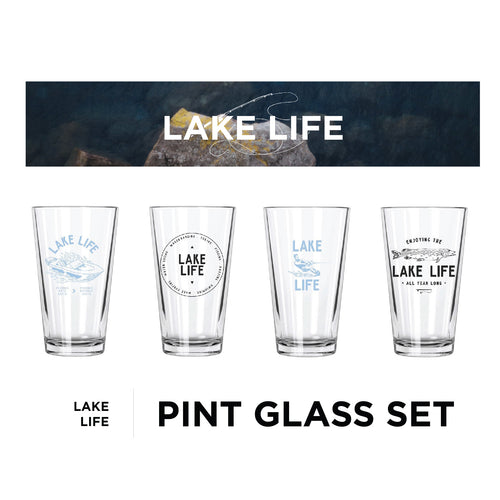 Lake Life Pint Glass Set - Northern Glasses Pint Glass