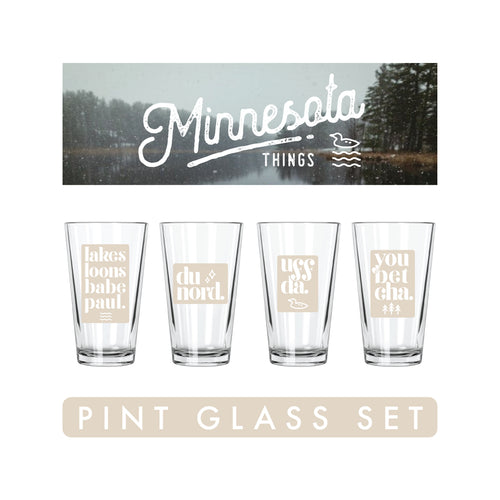 Minnesota Things Pint Glasses Set - Northern Glasses Pint Glass