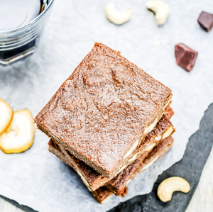 Chocolate Cashew Butter Banana Brownies