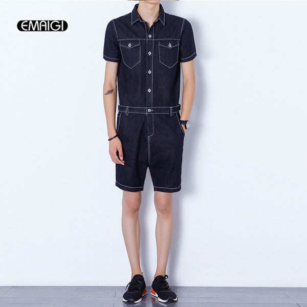 Romp Bro Men's Collared Romper - Jumpsuit
