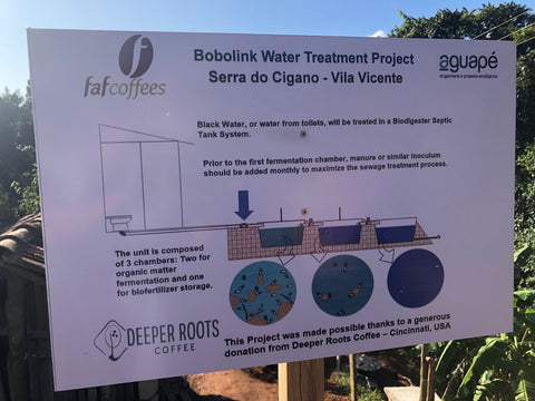 Biodigester system for local farmer funded by FAF