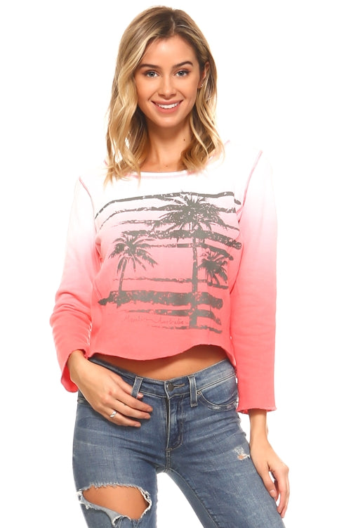 French Terry Palm Tree Sweatshirt