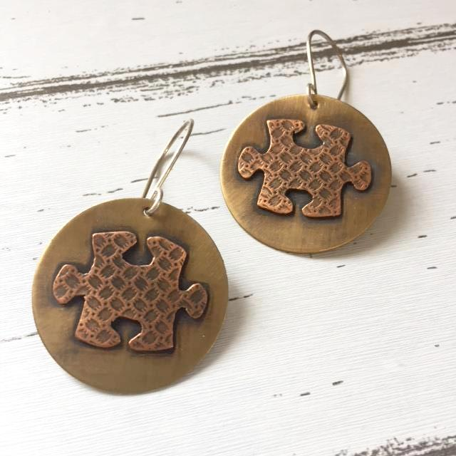Puzzle Collection - Puzzle Dangle Earrings