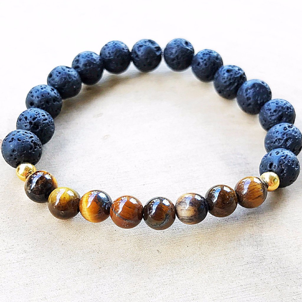 Lava and Tiger's Eye Bracelet