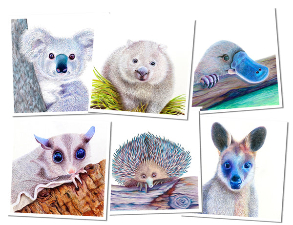 Gift Cards - Native Australian Animal Collection