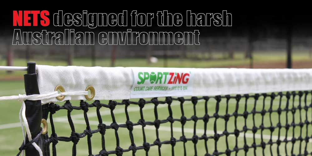 Tennis Nets | Sportzing Tennis Nets made for the Australian Environment.