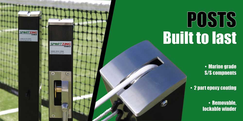 Tennis Net Posts | Stainless Steel | Manufactured in Australia