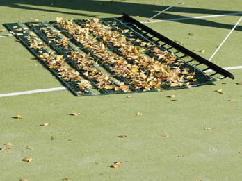 Aussie Clean Sweep | Tennis Court Cleaning - Leaf Removal