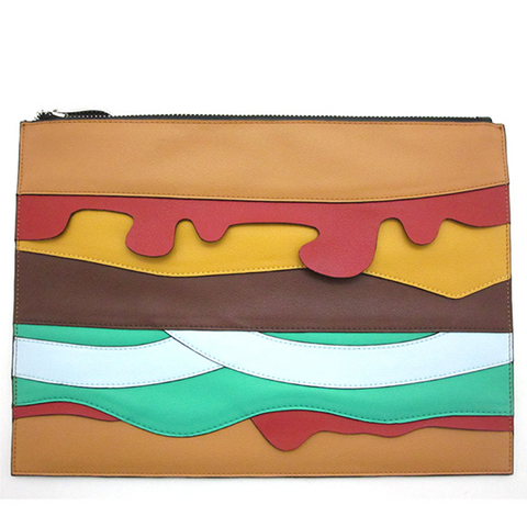 Hamburger Clutch Bag