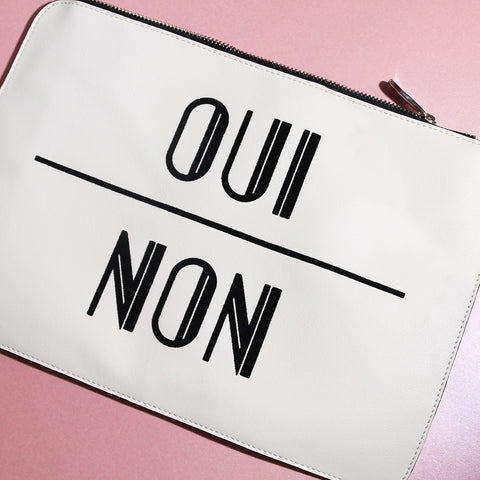 Oui Non Clutch Bag - MY FLASH TRASH