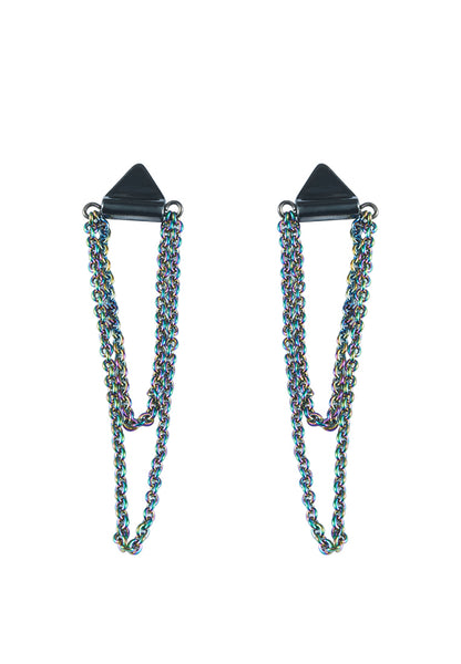 Hologram Chain tassel Earring - MY FLASH TRASH