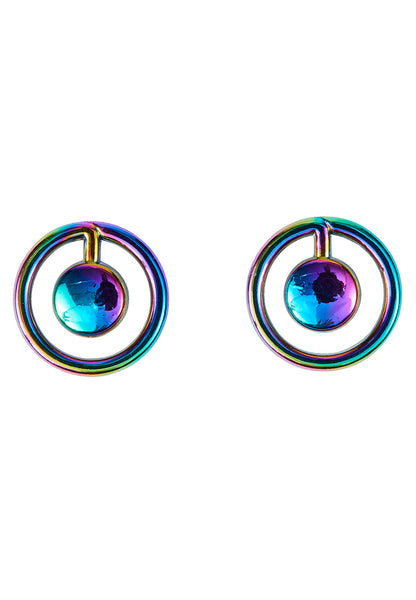 Hologram Planet Stud Earring - MY FLASH TRASH