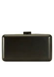 Matt black Box Clutch Bag - MY FLASH TRASH