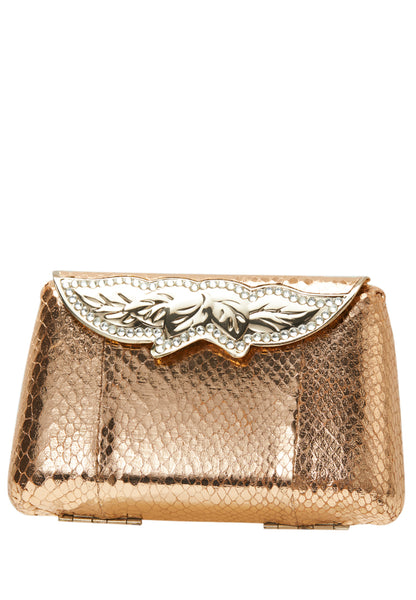 Vintage Rose Gold Clutch Bag - MY FLASH TRASH