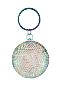 Hologram Cage Sphere clutch bag - MY FLASH TRASH